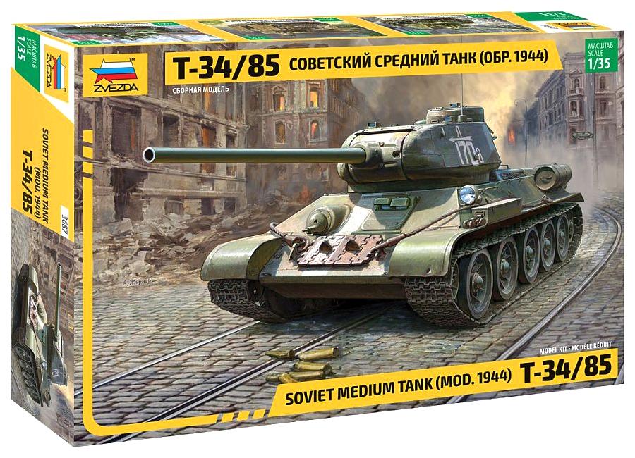 Набор подарочный-сборка ZVEZDA Советский средний танк Т-34/85