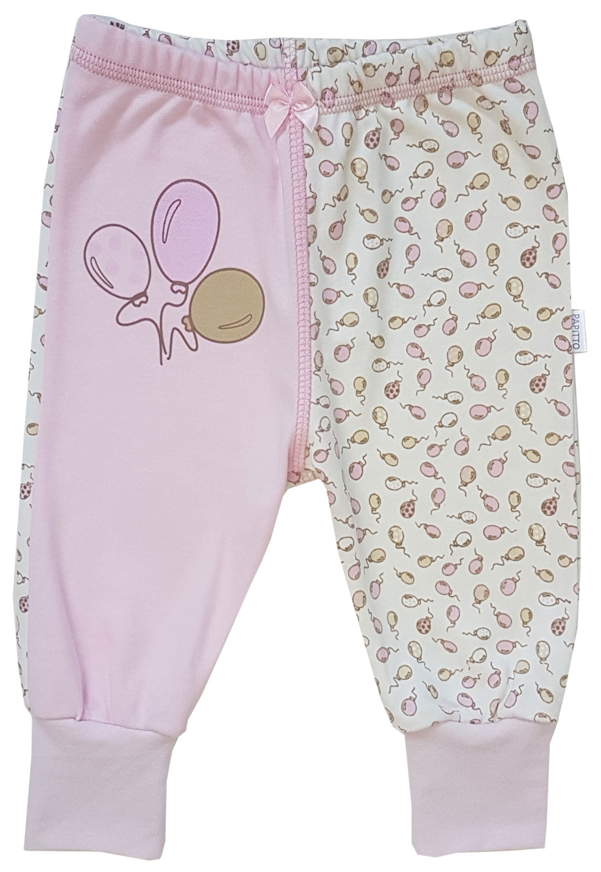 Ползунки - штанишки Папитто с манжетом Воздушные шарики цвет розовый р.22-68