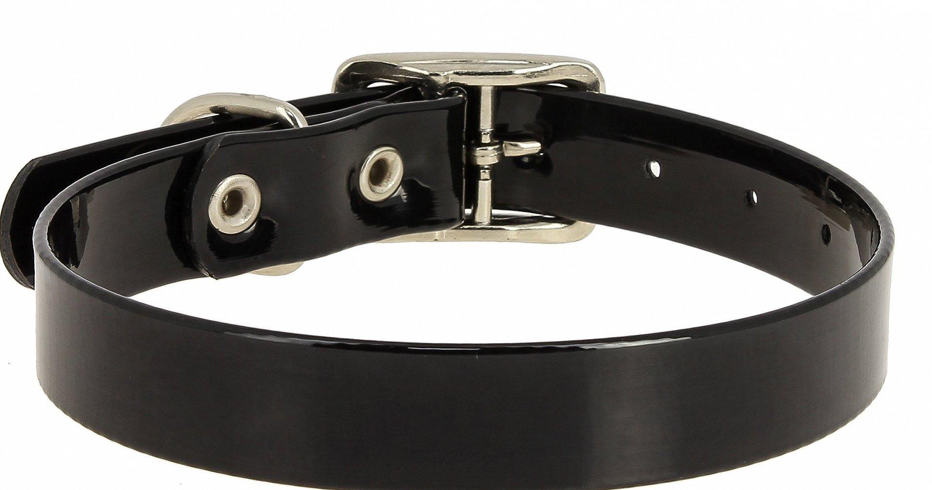 Ошейник Каскад из биотана черный для собак (20 мм (30-40 см), Черный)