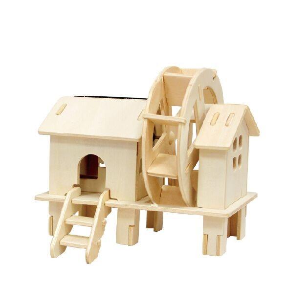 Купить 3d деревянный пазл robotime солнечные механизмы водяная мельница w150, Деревянные конструкторы
