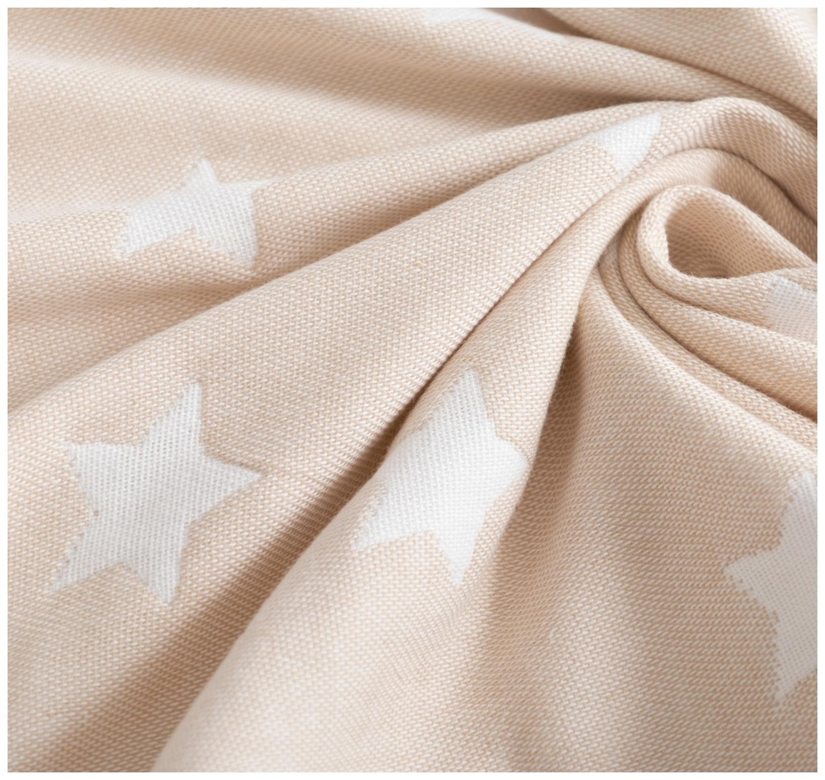 Одеяло детское Крошка Я Бежевые звёзды 110×140