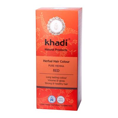 Растительная краска для волос KHADI «Хна красная»,