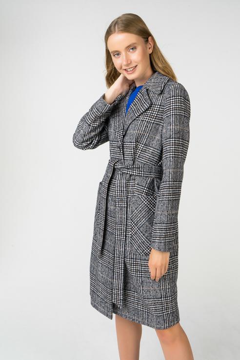 Пальто-халат женское ElectraStyle 3-6040/2-228/ серое 50 RU
