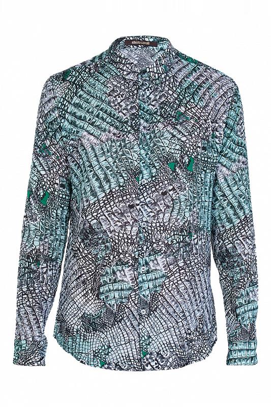 Рубашка мужская Roberto Cavalli 73212 зеленая 43 IT