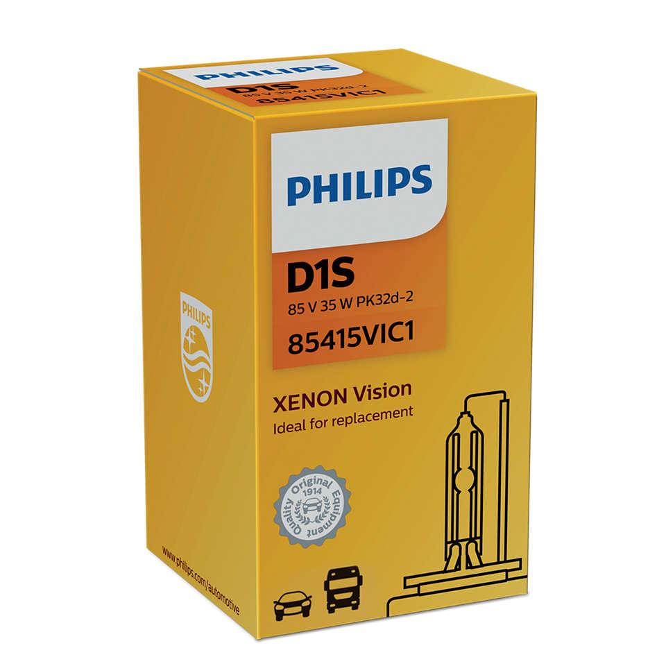 Лампа Газоразрядная D1s Xenon Vision 4600k Philips