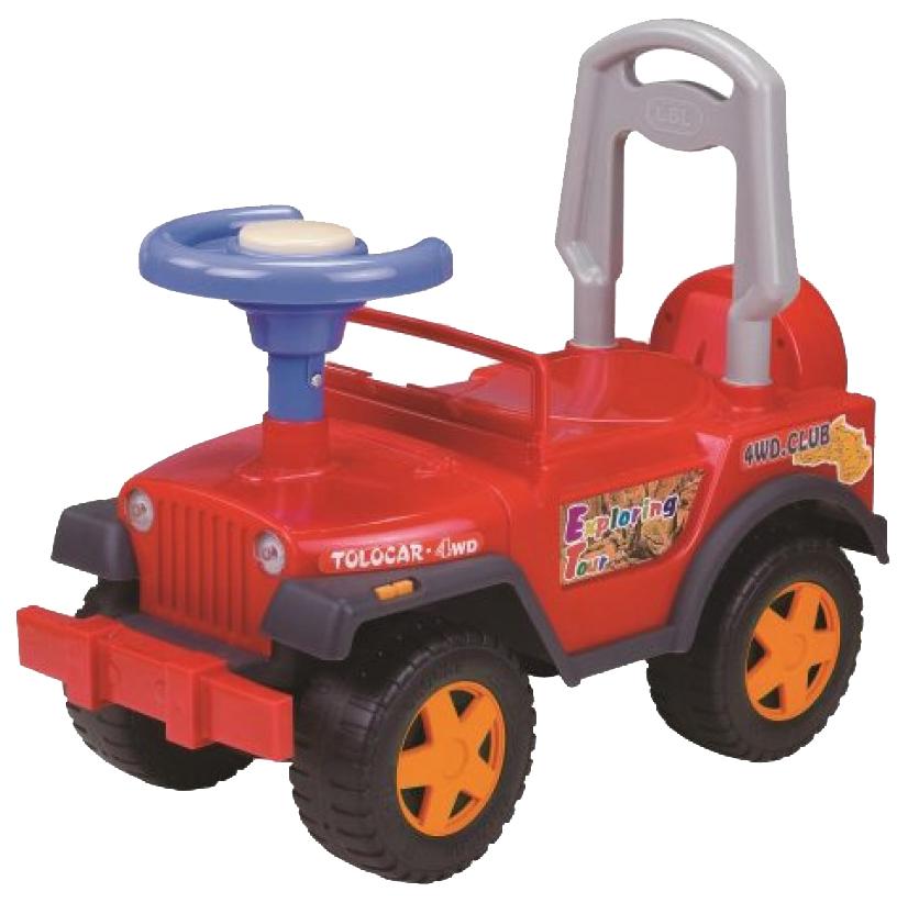 Машина-каталка Наша Игрушка Шериф красная, с гудком