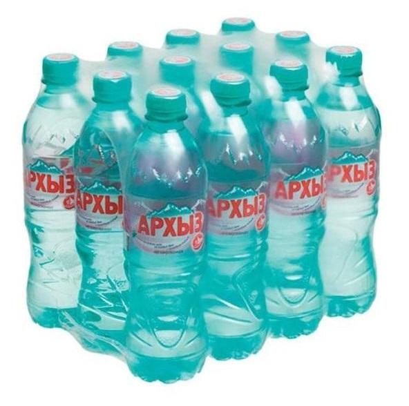 Минеральная вода Архыз негазированная пластик 0.5 л 12 штук в упаковке