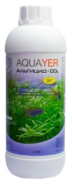 Средство для аквариумных растений Aquayer Альгицид+СО2 1л