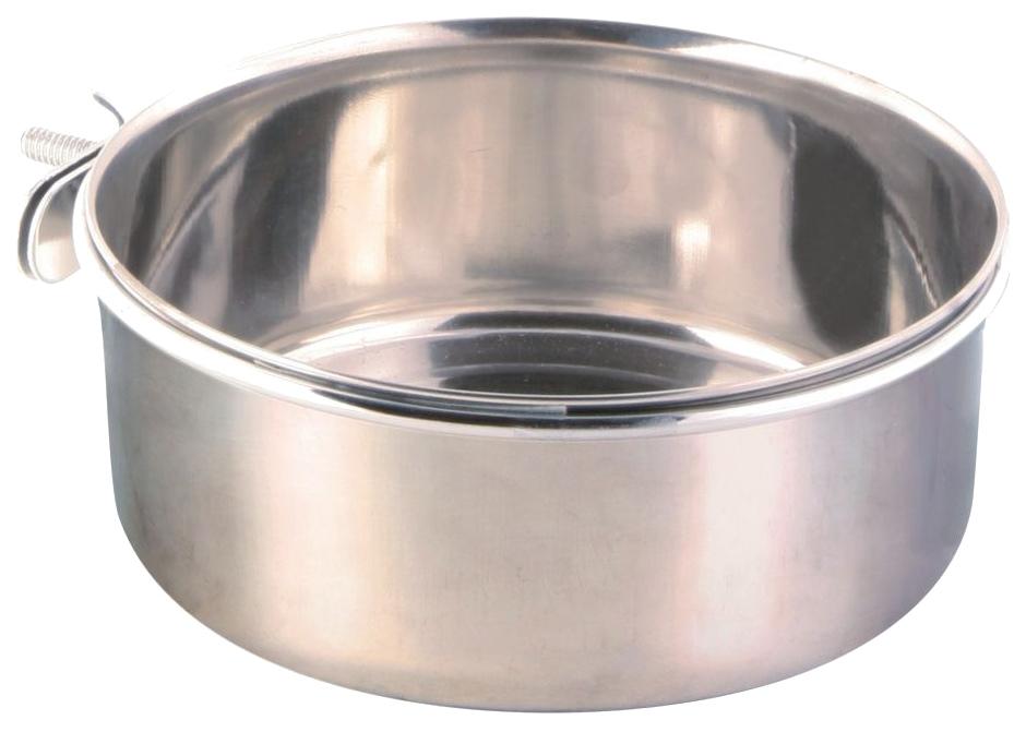 Одинарная миска для птиц TRIXIE, металл, серебристый,