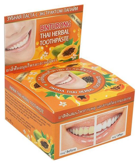 Купить Зубная паста BINTURONG C экстрактом папайи 33 г