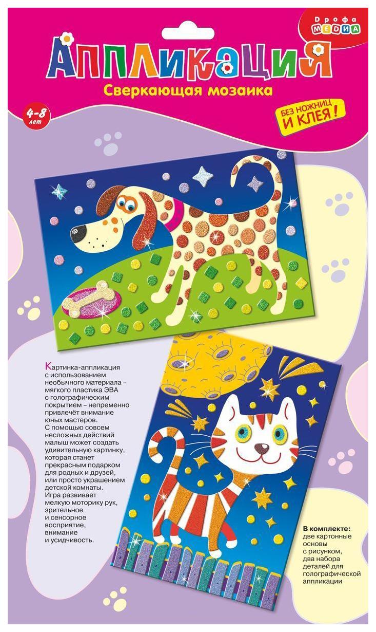 Купить Аппликация Дрофа-Медиа Кошка и собака, Детские аппликации
