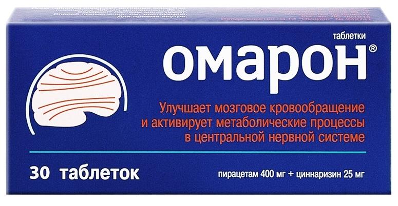 Купить Омарон таблетки 400 мг+25 мг 30 шт., Stada