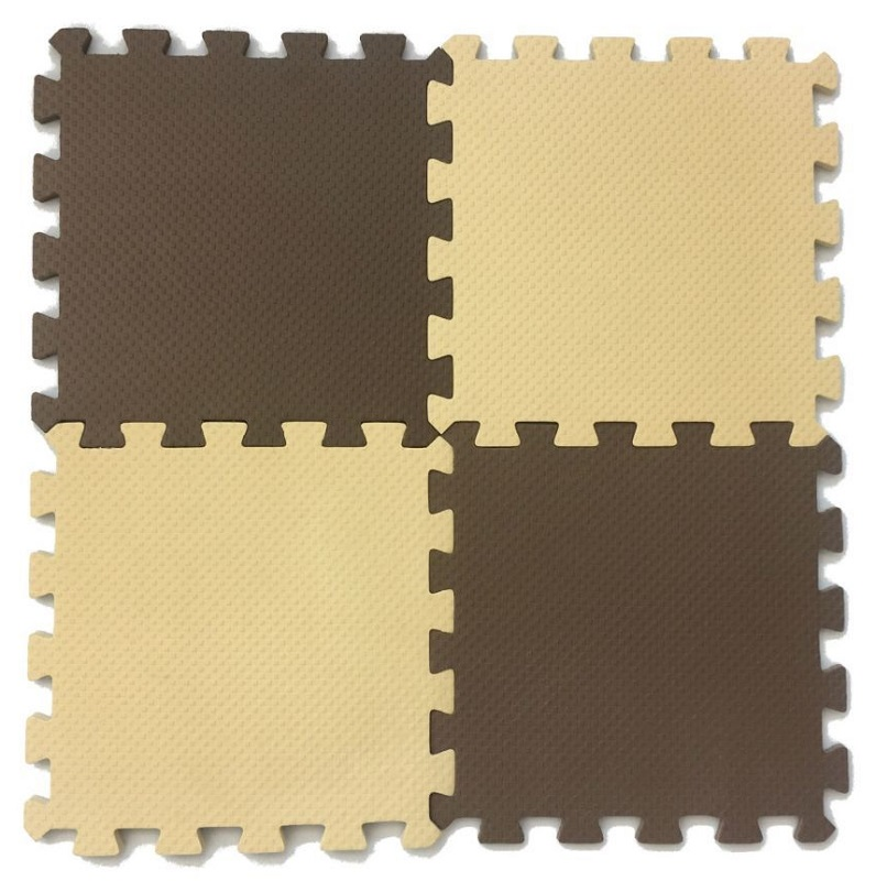 Развивающий коврик Eco Cover 25*25 см бежево