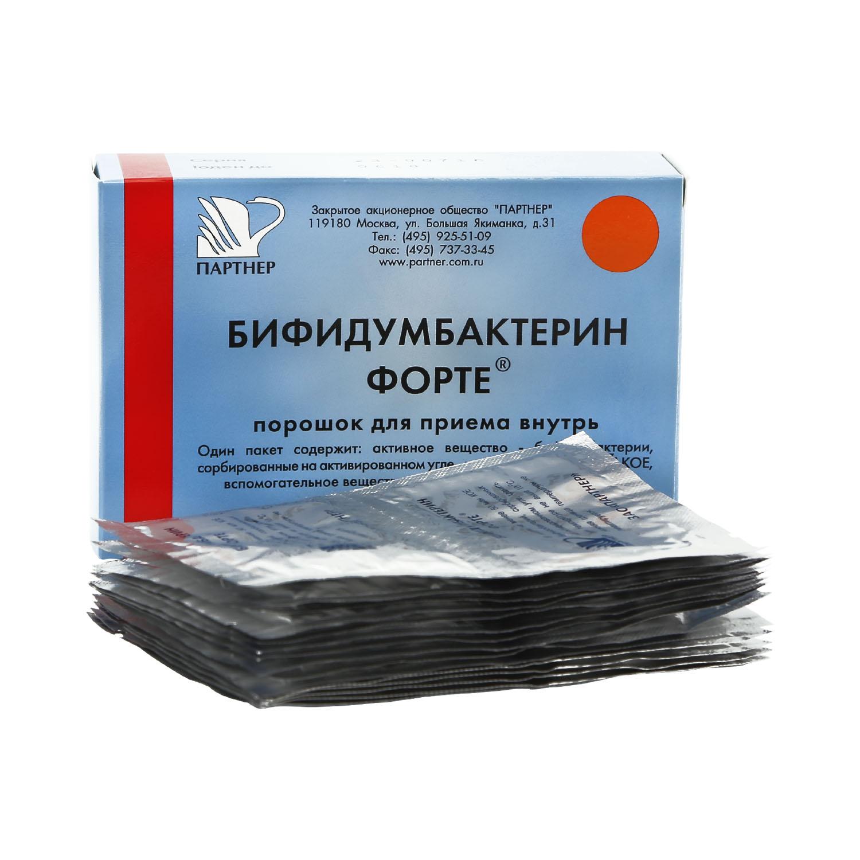 Купить Бифидумбактерин Форте порошок 50 млн КОЕ 0, 85 г 5 доз 30 шт. Партнер