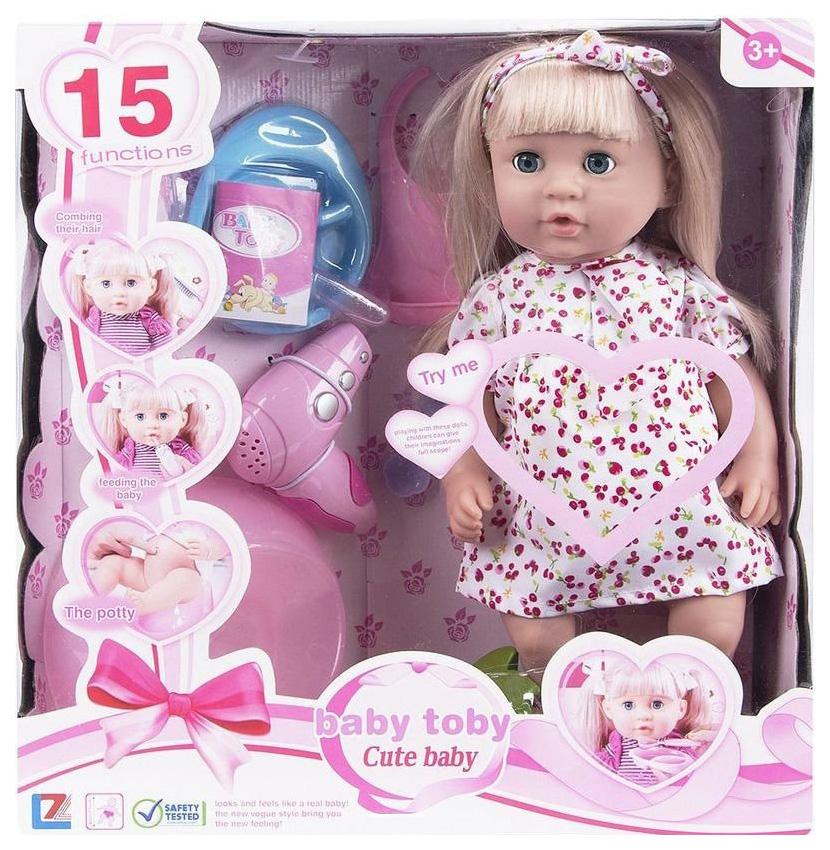 Купить Кукла Wei Tai Toys с аксессуарами 39 см на батарейках, Классические куклы