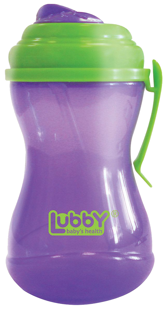 Купить Поильник-непроливайка Lubby с талией, трубочкой и Крышечкой Twist, 320 мл, Поильник Lubby 11836 Разноцветный, Поильники