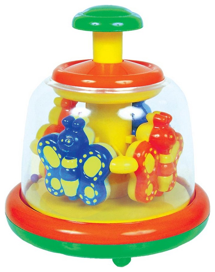 Купить Игрушка заводная карусель (юла), Развивающая игрушка Мир детства Заводная карусель 27803, Развивающие игрушки