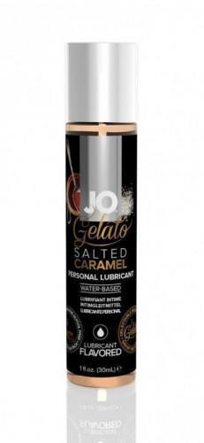 Купить Гель-смазка JO gelato Salted Caramel на водной основе вкусовой 30 мл, System JO
