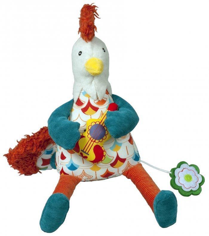 Купить Музыкальная игрушка Ebulobo Петушок Боб, Мягкие игрушки животные