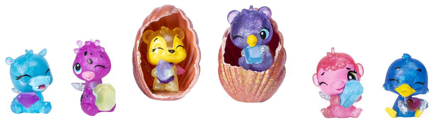 Купить Набор коллекционных фигурок Hatchimals 6046155 Хэтчималс Ракушка 6 шт., Игровые наборы