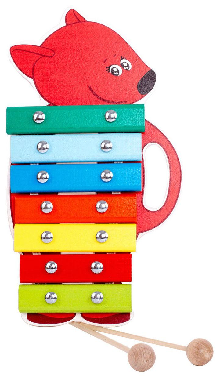 Ксилофон игрушечный МИ-МИ-МИШКИ Лисичка фото