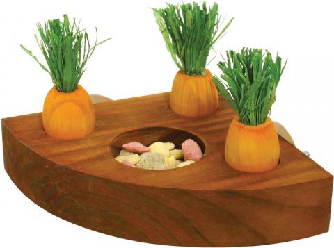 Игрушка кормушка для грызунов Rosewood с морковками