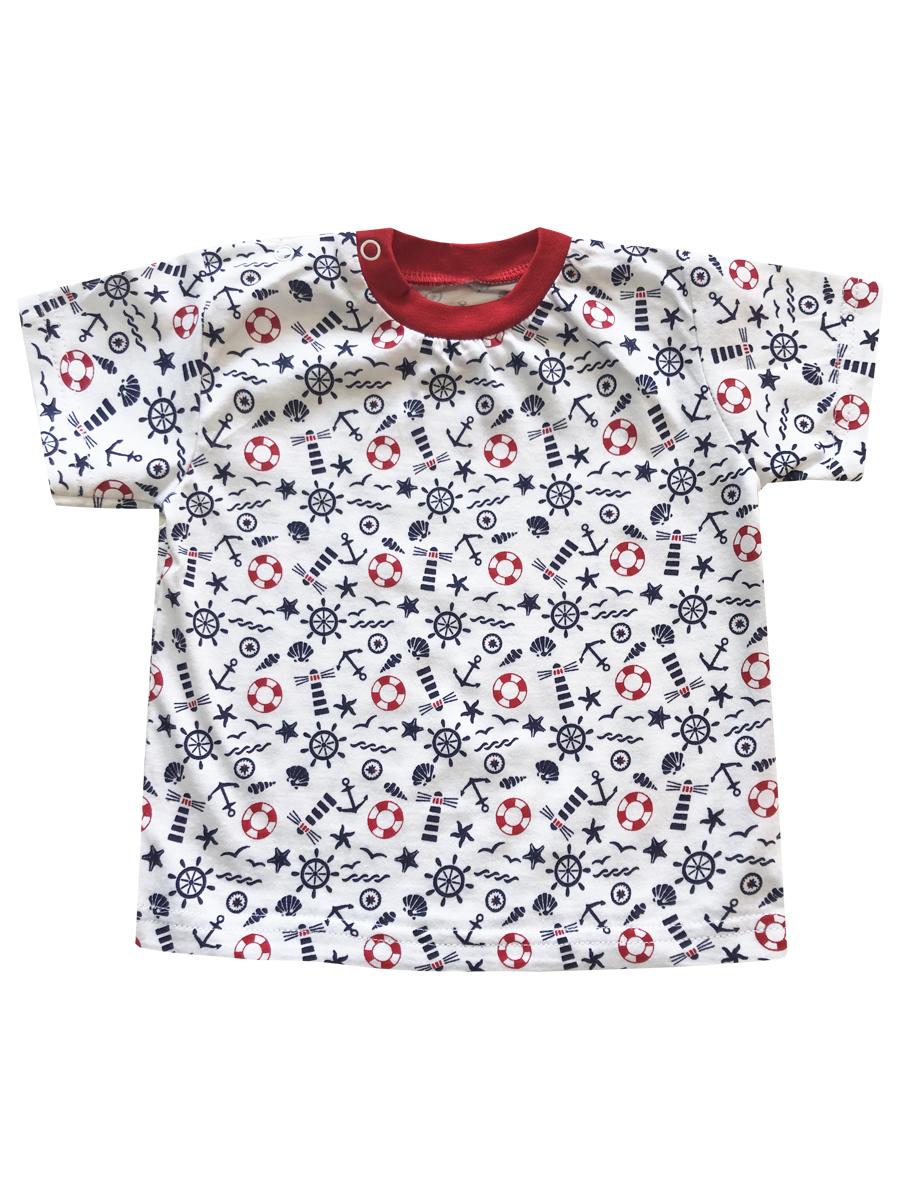 Купить Футболка детская КотМарКот К морю р.74 белый, Кофточки, футболки для новорожденных