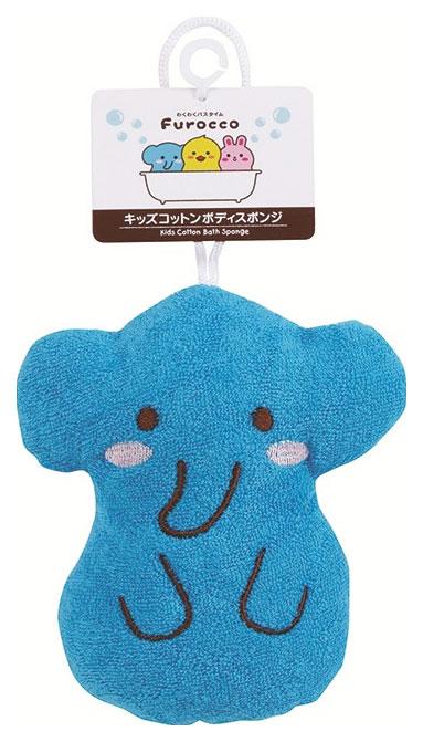 Мочалка детская Kokubo Furocco Kids Синий слоненок