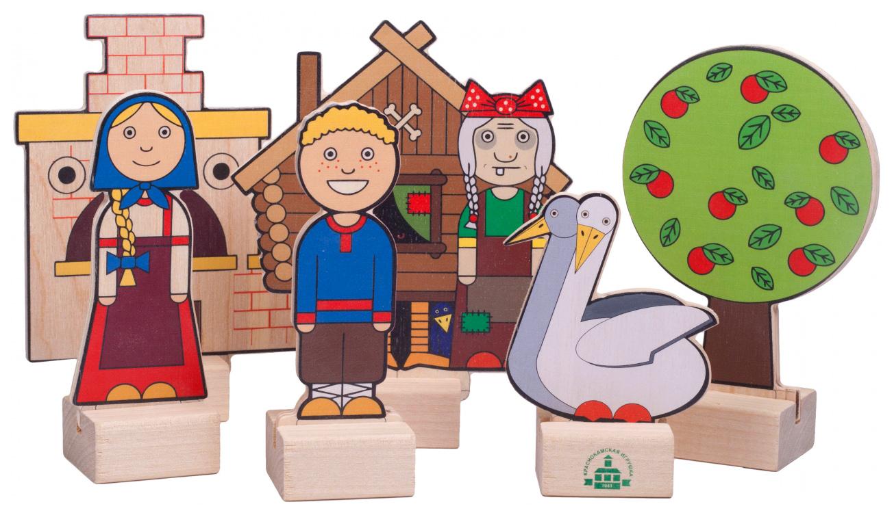 Кукольный театр Краснокамская игрушка Персонажи сказки Гуси-лебеди Н-64