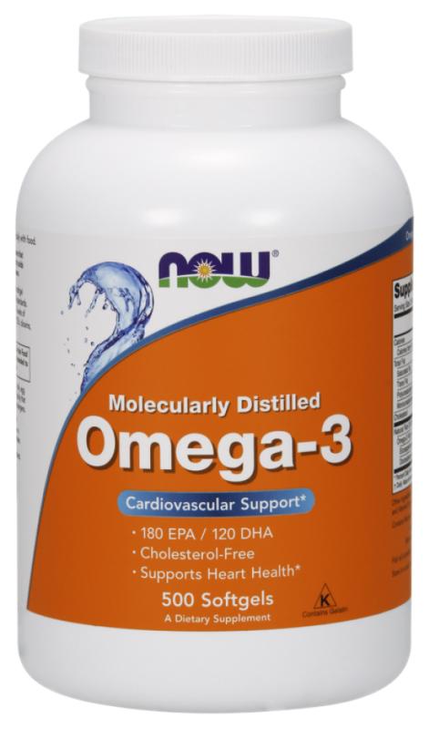 Купить Omega 3 1000 мг, Omega-3 NOW 500 капс.
