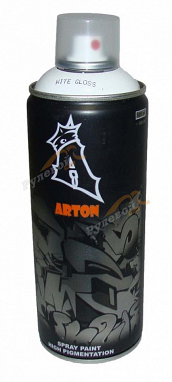 Аэрозольная краска Arton White Gloss 400 мл