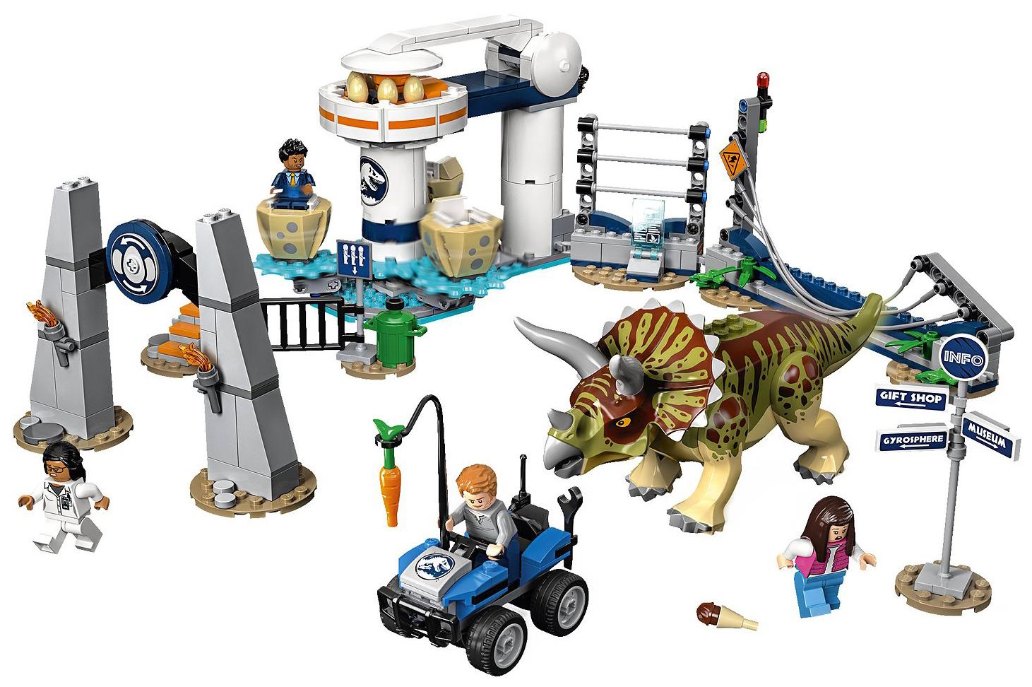 LEGO Jurassic World Нападение трицератопса фото