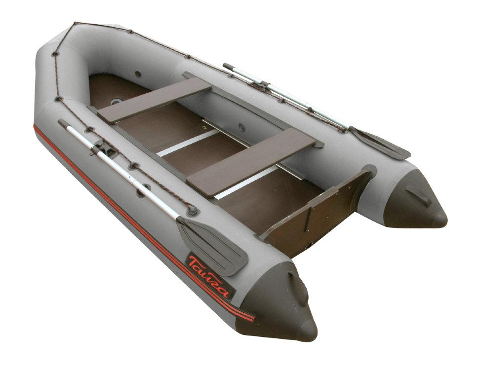 Лодка для рыбалки Leader Тайга-340 Киль серая