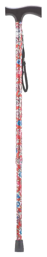 Купить Трость Армед YU821 с УПС красный с цветами светлое дерево, Armed