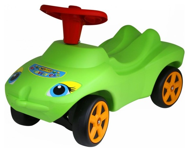Купить Детский транспорт, Машина-каталка Полесье Мой любимый автомобиль Зелёный со звуковым сигналом, Molto, Машинки каталки