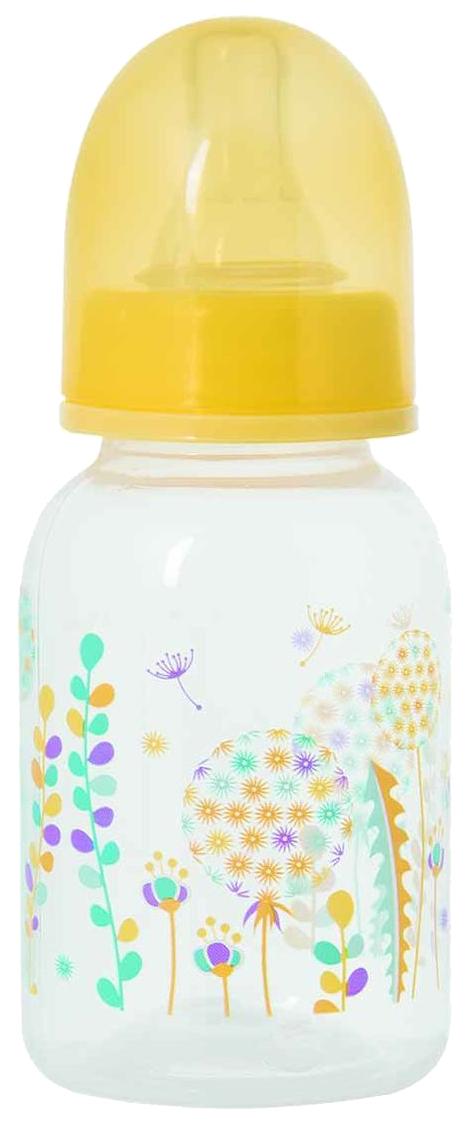 Купить Бутылочка для кормления с силиконовой соской ортодонтической формы, серия травы , 125 мл, Мир детства, Бутылочки для кормления