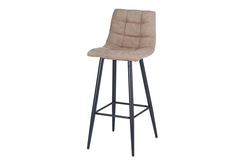 Полубарный стул Hoff Spice, черный/серый