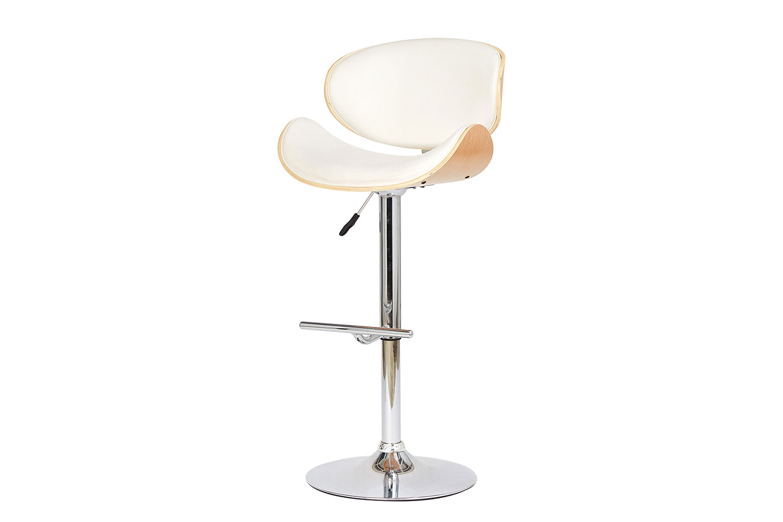 Барный стул Hoff Flex, хром/белый