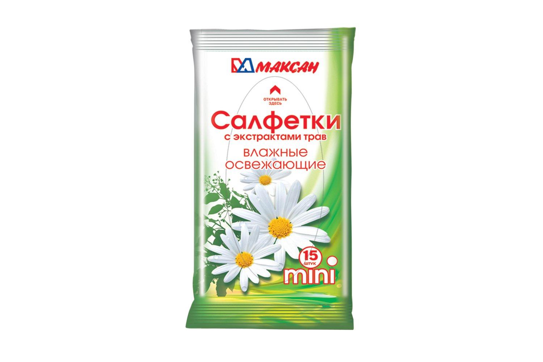 Влажные салфетки Максан Mini 15 шт
