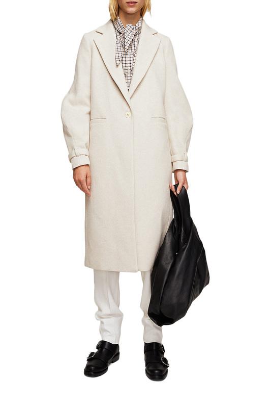 Пальто женское MANGO бежевое XS