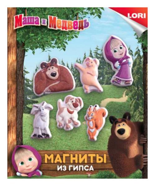 Купить Поделка LORI Магниты из гипса Маша и медведь Мш-001, Рукоделие