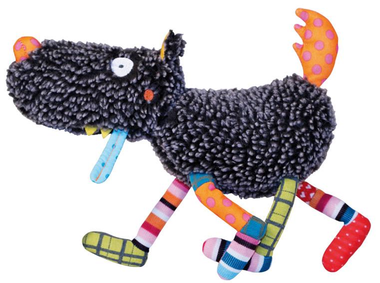 Купить Мягкая игрушка Ebulobo Волчонок, Мягкие игрушки животные