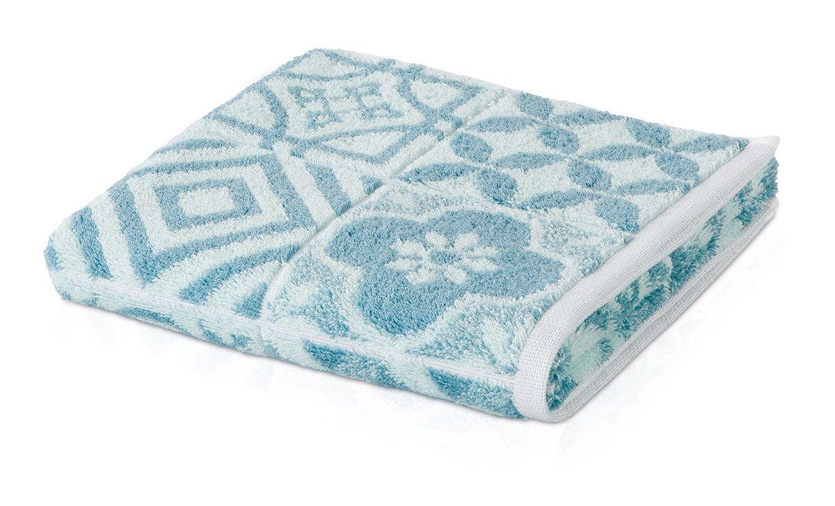 Банное полотенце, полотенце универсальное Move BUENOS AIRES белый, голубой фото