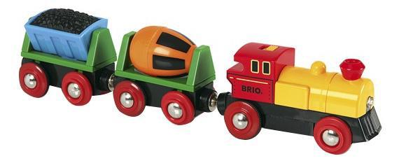 Купить Товарный поезд деревянной железной дороги Brio 33319, Детские железные дороги