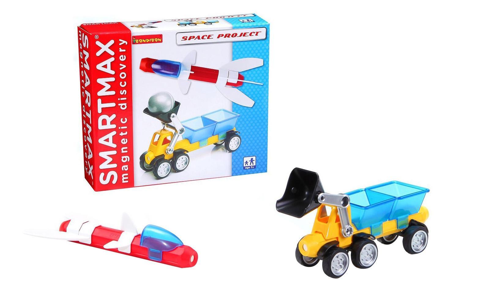 Купить Космический проект, Магнитный конструктор smartmax/ Bondibon набор: косм, Магнитные конструкторы
