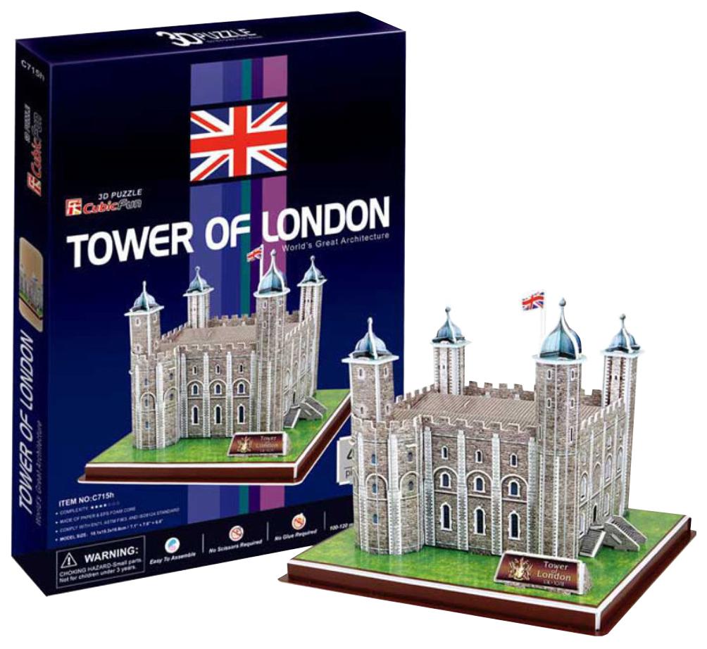 Купить Пазл Cubic Fun 3D C715h Кубик фан Лондонский Тауэр (Великобритания), CubicFun, Пазлы