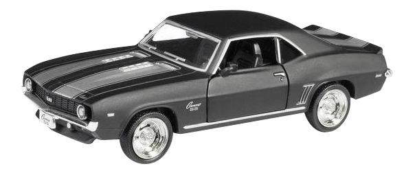 Купить Машина металлическая Uni-Fortune 1:32 Chevrolet Camaro 1969 инерционная серый матовый,