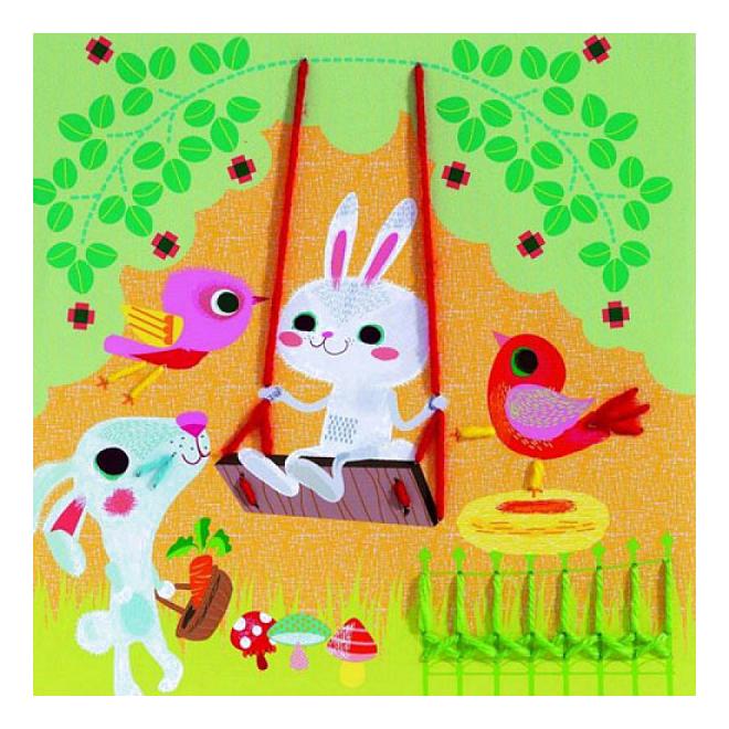 Набор для творчества Djeco Учимся шить Маленькие друзья
