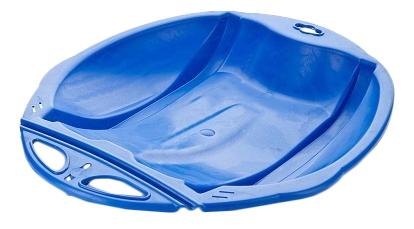 Санки-ледянки с ремнем Олимпик Веселый Паровозик голубые фото