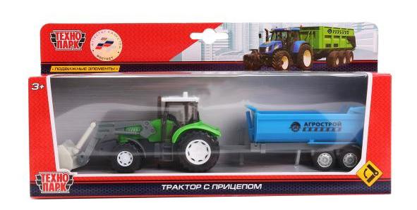Трактор с прицепом Технопарк фото